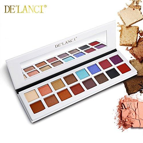 DE'LANCI 16 Farben Lidschatten-Palette, Schimmer & Matte Make-up - Hochpigmentierte...
