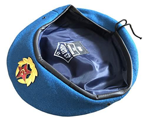Ganwear® UDSSR Sowjetische Art-russische Armee-Uniform-Blau VDV Fallschirmjäger-Barett-Kappen-Hutabzeichen