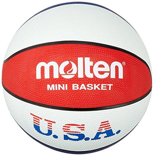 MOLTEN - Pelota de Baloncesto, diseño de los Colores de la Bandera de los Estados Unidos Azul Blau/Weiss/Rot Talla:5