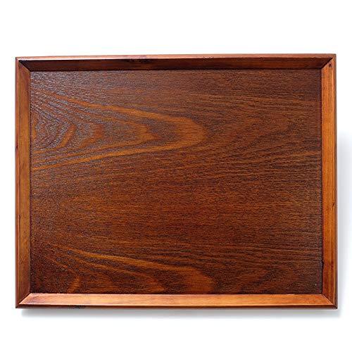 トレー お盆 木製 天然木製 北欧 羽反 42cm 長角膳 漆塗り トレー 北欧 おしゃれ 木製 カフェ ナチュラル トレイ お盆 スタッキング 収納