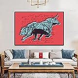Leinwand Wandkunst Bull And Bear Börse Abstrakte Gemälde