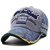Kuyou Distressed Basecap Snapback Outdoor Baseball Kappe Mütze (Navy)