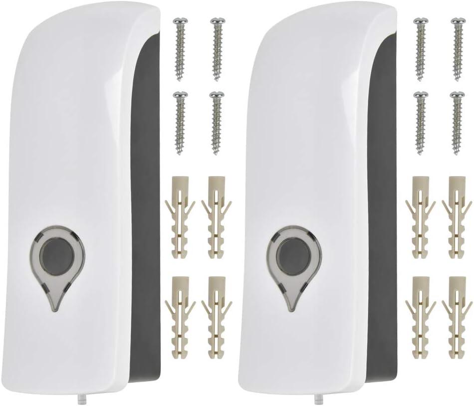 2 dispensadores de jabón montado en la pared, dispensador de ducha manual de 300 ml, montado en la pared, dispensador de jabón manual para baño, ducha, gel líquido y champú