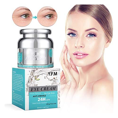 Y.F.M Augencreme Eye Cream, Augenpflege für dunkle Augenringe, Schwellungen und Fältchen,Augen Creme Anti-Tränensäcke, Augencreme gegen Augenringe und Falten für aller Hauttypen 30 ml