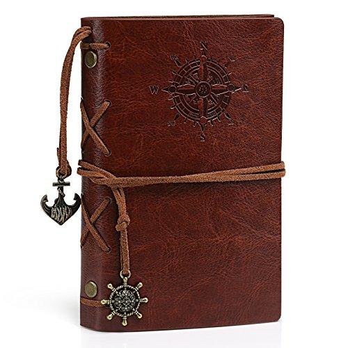 Kesote Taccuino di Diario con Copertina in Pelle Vintage Quaderno Riempibile Rilegato Notebook per Diario di Viaggio Regalo per Uomini & Donne