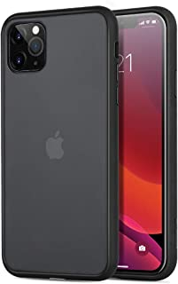 memumi Hybrid Case for iPhone 11 Pro Translucent Matte Back Cover with Soft TPU Edges [Shockproof Grade Certified] D3O Material to Shockproof for iPhone 11 Pro Case Matte Translucent Black