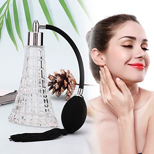Gran decoración elegante botella de perfume vintage recargable, botella de perfume vintage, para viajes a casa
