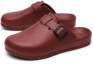 Berniee Unisex Clogs Slippers Leather Sandals Slip On Clogs Mules Fashionable Bathing Shoes Men Women Sandals Outsole Beac...