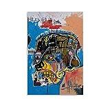 xuyang Póster de Calavera de Basquiat, 1981, diseño de graffiti de Jean Michel Basquiat, lienzo decorativo para pared, para sala de estar, dormitorio, 60 x 90 cm