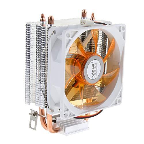 #N/A 12 Cm Caja De La Computadora CPU Ventilador De Refrigeración Radiador LED Refrigerador PWM Temp - Amarillo