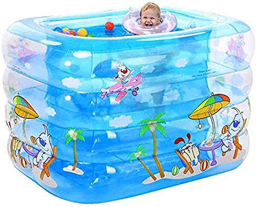 XXCLZ Familia Piscina Inflable para niños Plegable Inflable Caliente Grueso Adultos Bañera, niños Piscina Inflable Bañera,Blue