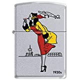 Zippo 1930s Windy Girl Satin Chrome Windproof Lighter