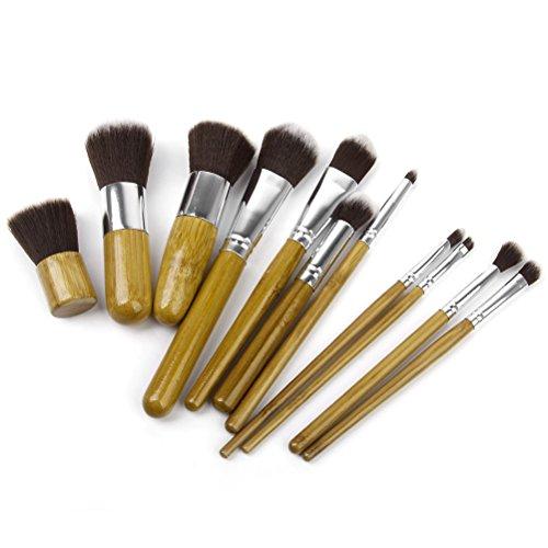BestMall LEORX bambou yeux maquillage Fond de teint correcteur de poche de pinceaux