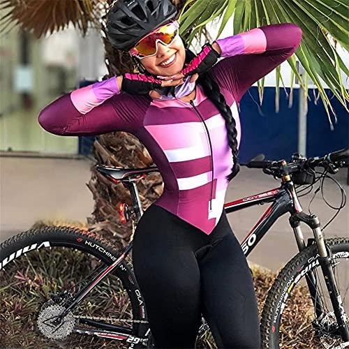 1 pezzo tuta tuta in bicicletta scimmia bike jersey set pantaloni lunghi manica bici sport sottile bicicletta da corsa skinsuit JINSHAO (Color : Sky blue, Size : Small)