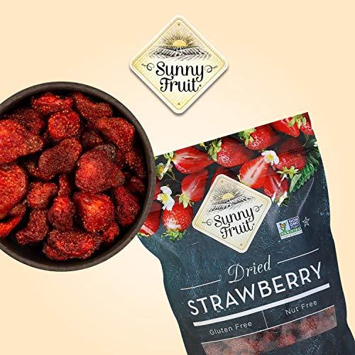 Dried Strawberries - Sunny Fruit - 18oz Bulk Bag | Quick, Healthy Sweet Snack | NON-GMO, GLUTEN-FREE, NUT FREE