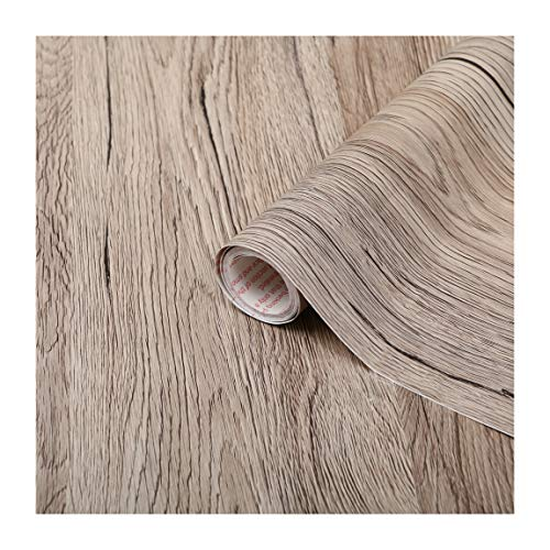 2.1m X90cm BEECH BROWN WOOD EFFECT STICKY BACK PLASTIC SELF ADHESIVE VINYL FILM