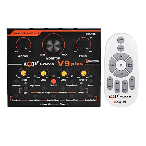 V9 Plus Mezclador de audio profesional Audio USB Tarjeta de sonido externa Auricular Micrófono Transmisión web Entretenimiento Streamer Tarjeta de sonido en vivo