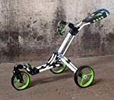 "Chariot de golf Yorrx® SL Pro 7 HAMMA ""PLUS"" en vert, Alu-Pushtrolley / Golfwagen / Pushtrolley / Golfcart"