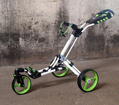 "Chariot de golf Yorrx® SL Pro 7 HAMMA ""PLUS"" en vert, Alu-Pushtrolley / Golfwagen / Pushtrolley..."