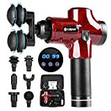 Holulo Massage Gun, Professional Deep Tissue Massage Gun Handheld Muscle Neck Back Shoulder Massager with 8 Massage Head ,Cordless Massage Device Rechargeable,30 Speed Options