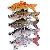 VTAVTA Fishing Lures for Bass Swimbaits Bass Lures Slow Sinking Lifelike Fish Glide Bait 3.9inch...