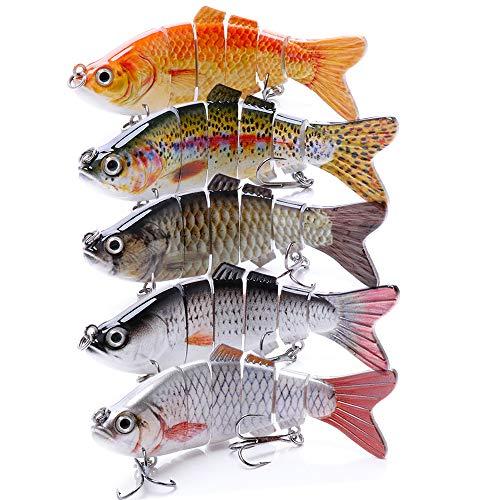 VTAVTA Bass Fishing Lures Freshwater Fish Lure Swimbaits Slow Sinking Gears Lifelike Lure Glide Bait Tackle Kits
