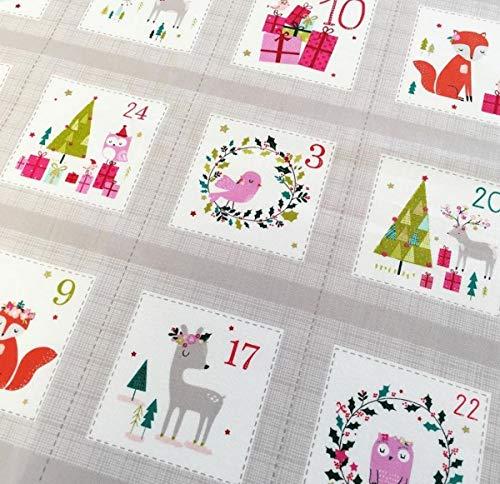 Dashwood Panel de adviento Calendario de adviento y Tela DASH293, para Hacer tu Propio, Panel de 60 x 110 cm, 100% algodón
