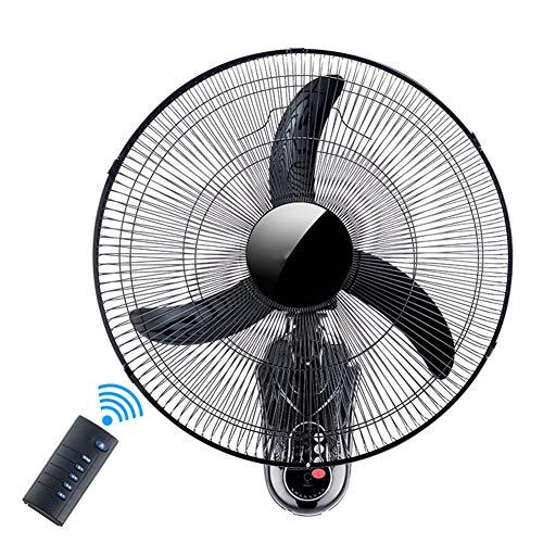 Wandventilator, wandventilator, 18-inch kantelkop studentenwohnheim restaurant afstandsbediening, Moving Head Fan kantoor wandventilator, met timer, afstandsbediening muur ventilator