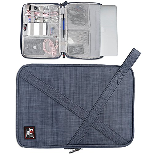 BUBM Laptop Sleeve Compatible for Surface Pro 4/3/?Surface Go,12 MacBook,11.6 MacBook Air, iPad Pro,with Multiple Organizer Pockets for Electronic Accessories, Gray