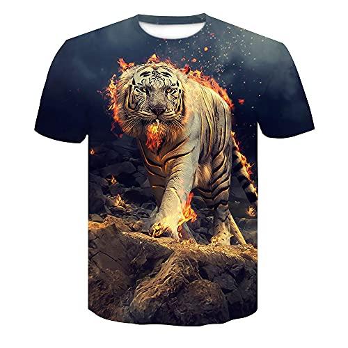 Casual Camicie Uomo Estate Moda Girocollo Uomo T-Shirt personalità 3D Stampa Manica Corta Sportiva Shirt Urbano novità Creativa Streetwear Shirt AE080 3XL
