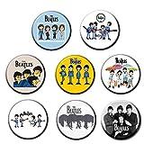Beatles #24: Insignias redondas con botones de pinback de 5,8 cm (juego de 8)