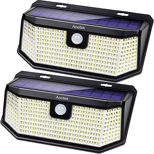 Aootek 182 Led Solar outdoor motion sensor lights...