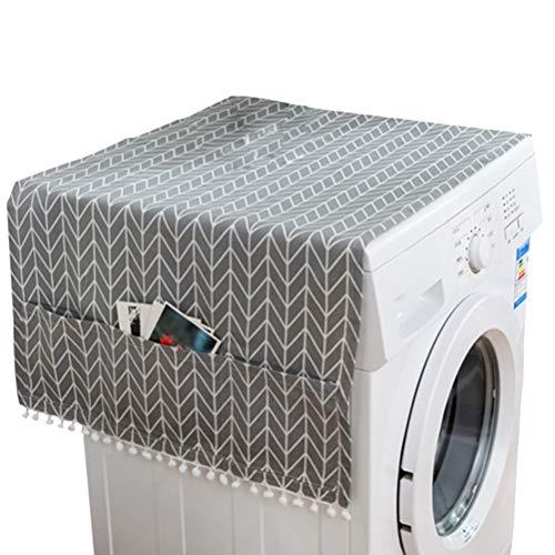 LIOOBO Housse de Protection pour Machine à Laver Réfrigérateur Universel Charge Avant Lave-Linge Sèche-Linge Étanche Motif de Flèche Grise 55 x 130cm