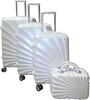 Love Trolley 3Pcs Set with Beauty Case, White