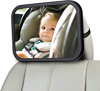 Baby Car Mirror for Back Seat, Baby Car Seat Mirror, Safety and Wide Baby Rear View Mirror to See Rear Facing Infants,babies, Kids and Child