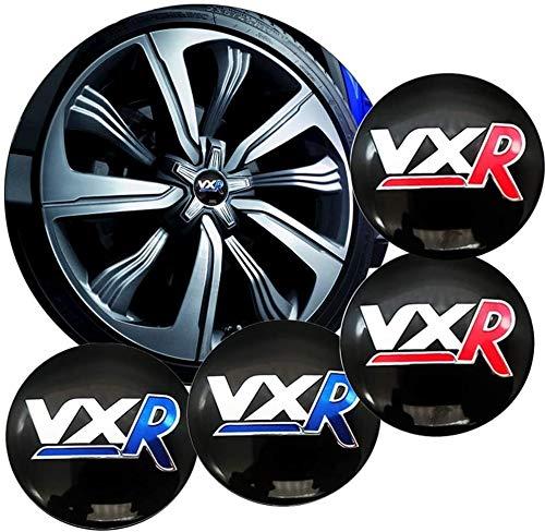 YXZLY 4 Stück 56mm Fit for car Styling Auto-Reifen-Rad-Mitte-Naben-Kappen-Aufkleber-Abzeichen-Aufkleber Zubehör...