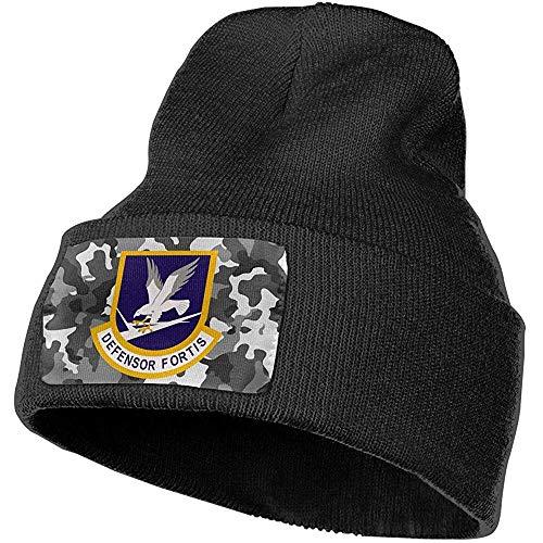 K.e.n Defsensor Fortis Air Force veiligheidskrachten volwassenen mannen vrouwen beanie muts gebreide mutsen winter outdoor warm gebreide mutsen