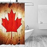Badewannenvorhang Duschvorhänge Kanada Flagge Bad Gardinen Badezimmer Dekor Mit Haken Land Bad wasserdichte Badewanne Fenster Zubehör