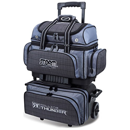 Storm Bowling Products 4 Ball Rolling Thunder Bowling Bag- Plaid/Gray/Black