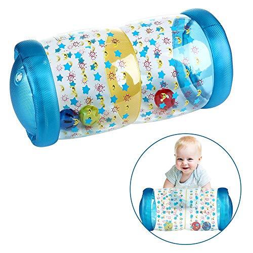 MOGOI Aufblasbare Baby-Jumbo-Rolle, Krabbel-Trainingsrolle für Kleinkinder, mit Glocke im Inneren zum Üben von Krabbeln und Stehen, ungiftiges Roll- und Krabbelspielzeug