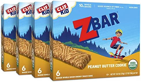 Clif Kid ZBAR Organic Granola Bars Peanut Butter Cookie 1 27 Ounce Energy Bars Lunch Box Snacks product image