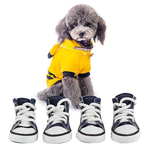 KEESIN Botas para Perro, Suela Antideslizante, Protector de Patas, Zapatos para Perros pequeños y medianos