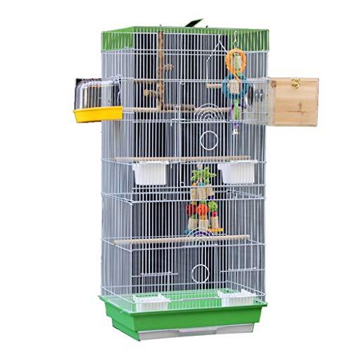 Gabbia per Uccelli Grande Gabbia per Uccelli Lotto di Volo da Allevamento Gabbia per Uccelli con Supporto per Parrocchetto Pampi di Panoramica Canary Finch Parrotlet 18 * 14 * 38in leggero traspirante