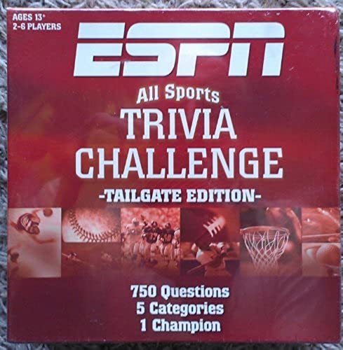 ESPN All Sports Trivia Challenge Game Tailgate Edition by Friendly Games