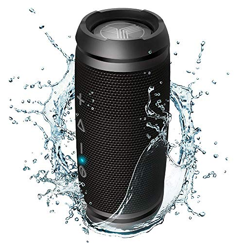 TREBLAB HD7 - Ultra Premium Portable Wireless Speaker - Loud 360°HD Sound w/Best Bass, TWS Dual Pairing, 12W Stereo, Bluetooth 5.0 Microphone Mic, Small & Mini for Travel, Bike, Beach, Party Bosinas