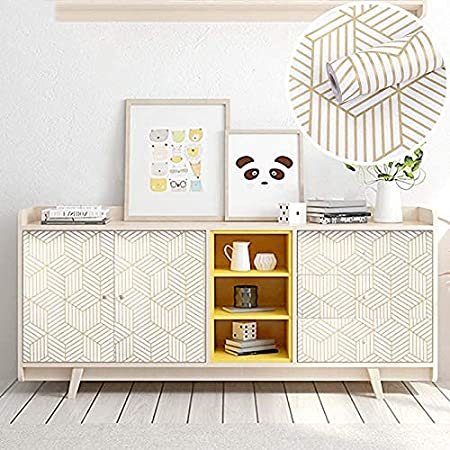 HOMOH 17.71in x 236.2in Peel and Stick Wallpaper Geometric Hexagon Contact Paper Removable Self Adhesive Wall Paper Vinyl Film Shelf Paper /& Drawer Liner Roll for Home Use