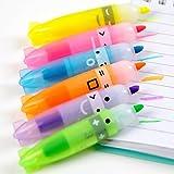 newhashiqi Textmarker-Set, mit farbigem Duft, 6 Stück, süße Boot-förmige Textmarker, Marker, für Kinder multi