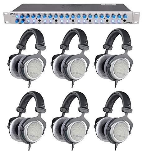 6 Beyerdynamic DT-880-PRO-250 Studio Recording Headphones+Presonus Headphone Amp