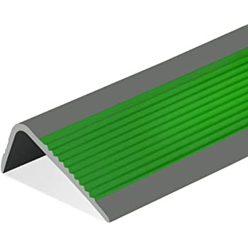 MELAG Perfil de Borde de Escalera Antideslizante Perfil para Cantos Escaleras Tiras Antideslizantes escalones de jardín de Infantes Borde Borde en Forma de L Perla pegada hogar PVC Piso Autoadhesivo: Amazon.es: Hogar