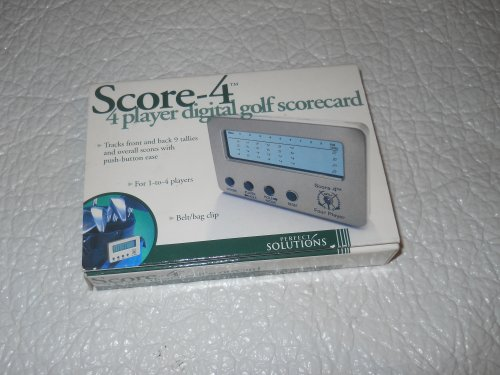 Score 4 4 Player Digital Golf ScoreCard PS1651PM Perfect Solutions